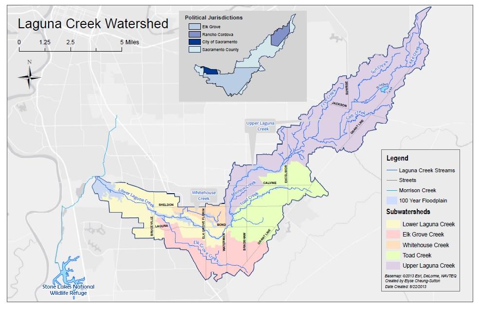 Laguna Creek Watershed Map